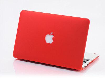 "Rubberized Hard Case Matte Cover For MacBook AIR 11""/ White/ PRO 13"" 15"" Retina"