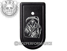 for Springfield Armory XDS 9mm 45ACP Magazine Mag Plate BK Grim Reaper 1