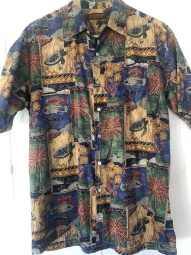 Tori Richards Hawaiian Oceans Shirt  sz.S