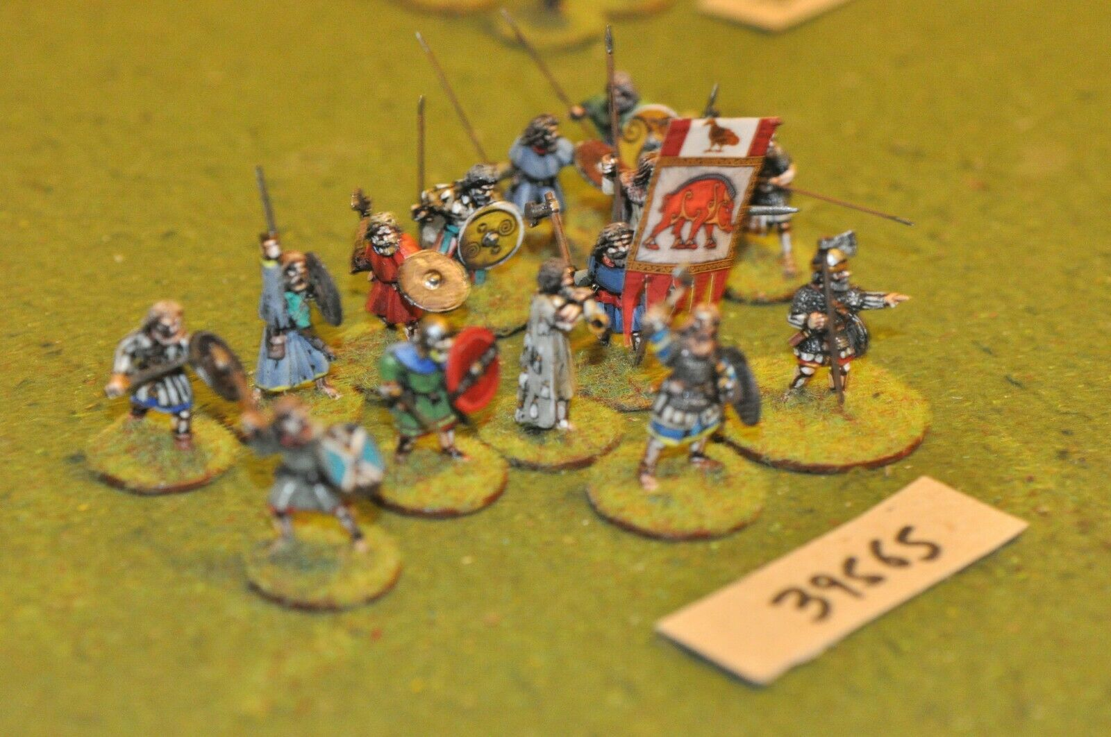 25mm dark ages   anglo-saxon anglo-saxon anglo-saxon - battle group saga 14 figures - inf (39565) 41a