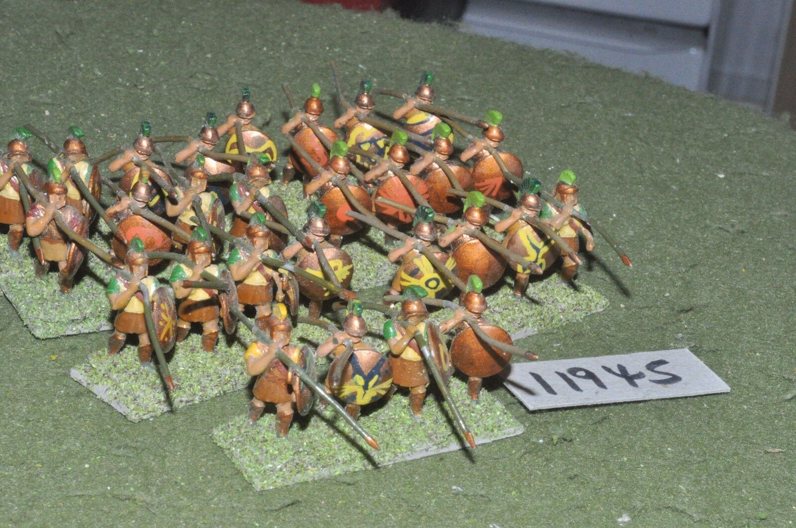 25mm classical   greek - ancient hoplites 28 figs - inf (11945)