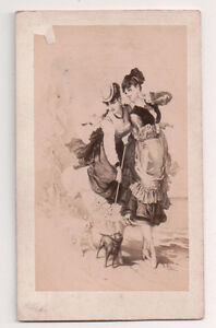 Vintage-CDV-Album-Filler-French-Ladies-of-The-Belle-Epoque-Bulla-Feres-Photo