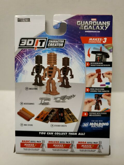 3DIT Character Creator Marvel Guardians of The Galaxy Basic Refill Model Kit