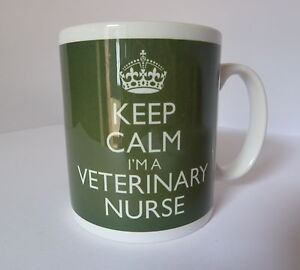 Keep-Calm-I-039-m-a-Veterinary-Nurse-Mug-In-Carry-On-Style-Green-Gift-Present-Cup