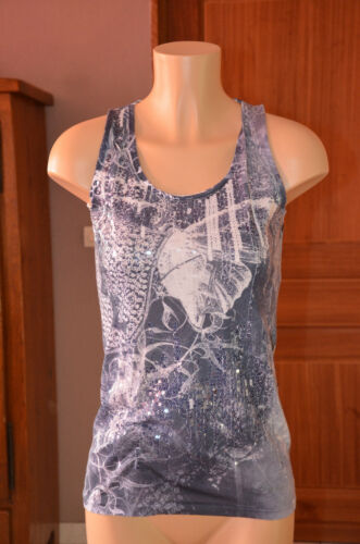 Size Condition M Blue Excellent White Pretty Top Desigual and 8xYWqX4xw