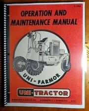 Minneapolis Moline Uni Farmor Uni Tractor Owners Operators Manual S 206 1255