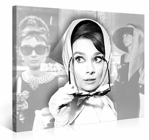 audrey hepburn 100x75cm film legende kino bild e2179. Black Bedroom Furniture Sets. Home Design Ideas