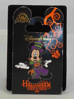 Walt Disney Parks World Mickey Mouse Purple Striped Tophat Halloween Trading Pin
