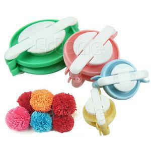 8pcs 4 sizes pompom maker fluff ball weaver needle craft knitting wool tool diy ebay. Black Bedroom Furniture Sets. Home Design Ideas