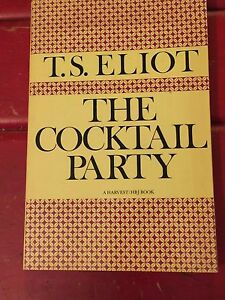 14ca5478767 T.S.ELIOT THE COCKTAIL PARTY PB Harvest HBJ Book 1978 Very Good ...