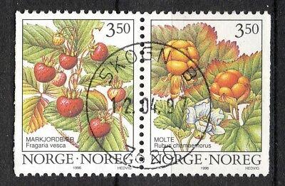 Norway 1996 Son Superb 7620 Skogn B 12.04.97 s39 Nk 1253-54 Par nt