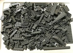 Dark-Bluish-Gray-400-Pc-Lego-Mixed-Lot-Bricks-Plates-Specialty