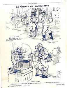 """Caricatures Guerre Poilus Artillerie Marrons 5 Sous Soldats Boches War 1916 WWI - France - Commentaires du vendeur : """"OCCASION"""" - France"""