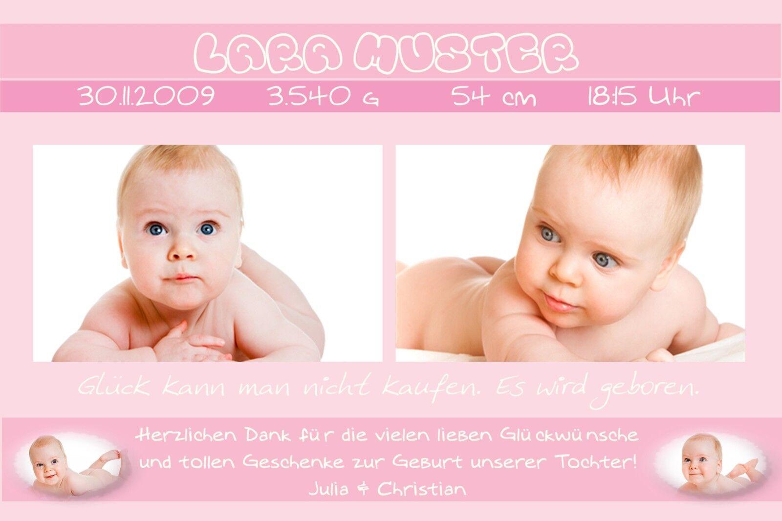 Danksagung Karte Geburt Baby Danksagungskarten individuell persönlich gb_04   Einfach zu bedienen    Innovation