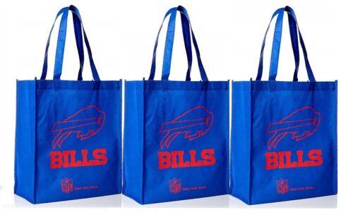 3 Buffalo Bills Reusable Shopping Grocery Tote Gift Bags Go Green NEW