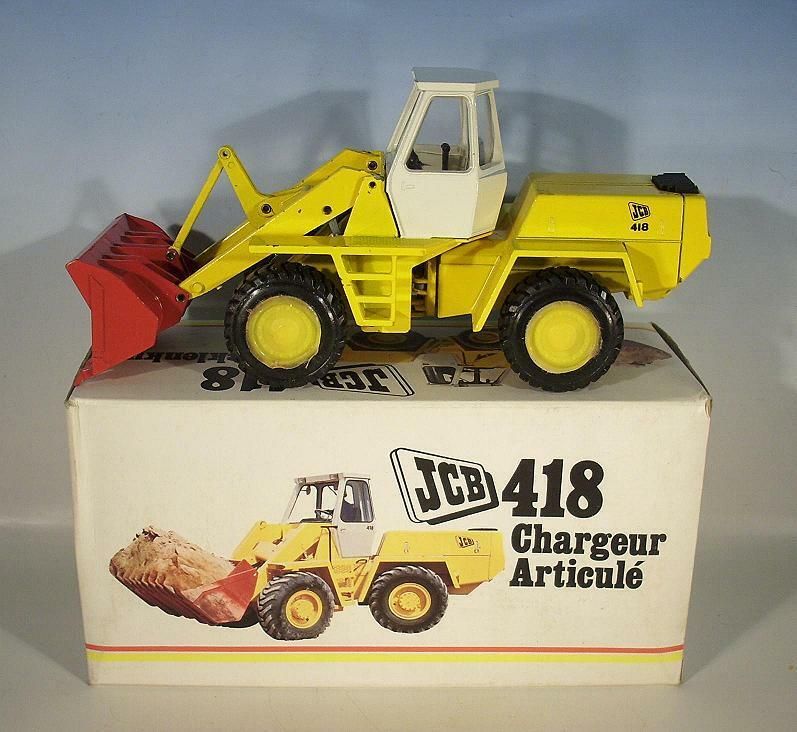 NZG 1 35 No. 142 JCB 418 Wheel Loader With Articulated steering in O-Box 70er JH