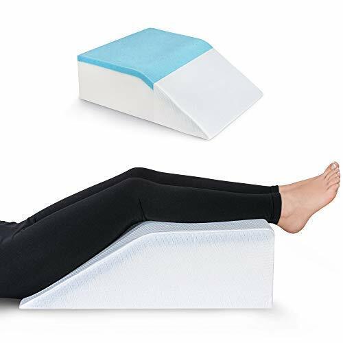 Leg Elevation Pillow with Cooling Gel Elevating Foam Memory Foam Leg Rest