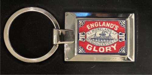 high polished metal keyring Englands Glory Matchbox