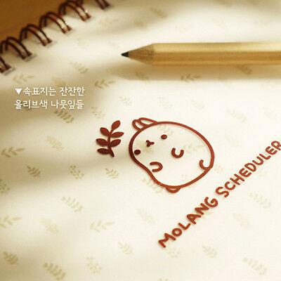 Molang Scheduler ver.2 Korean Sticker Diary Journey Undated planner schedule 1ea
