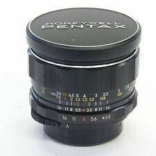 Pentax 28mm f/3.5 Super Takumar Wide angle lens with original lens caps