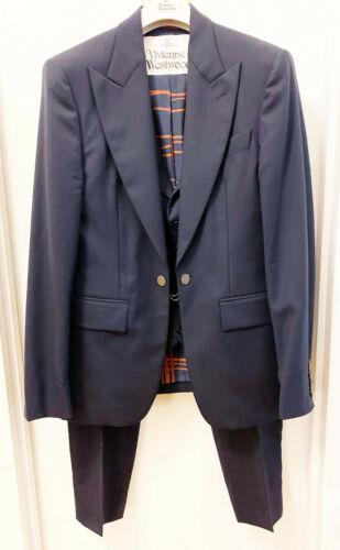 Vivienne Westwood Navy Blue Suit w/ Attached Waist