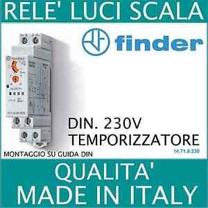 Timer Luci Scale Prezzo.Rele Temporizzatore Timer Luci Scale Din 220v Finder 14 71 8 230