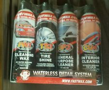 Fastwax Waterless Car Cleaner/Detailing 4 Can Kit Set FW1 TS2 GP3 CU4