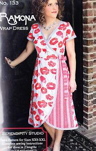 PATTERN-Ramona-Wrap-Dress-fabulous-women-039-s-clothing-PATTERN-Serendipity
