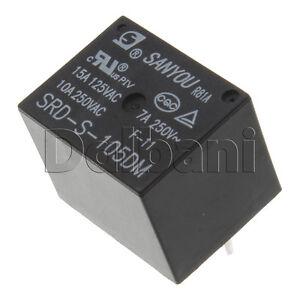 SRD-S-105DM-New-Sanyou-Sealed-type-1-pole-5V-DC-Relay-15A-125VAC-10A-250VAC