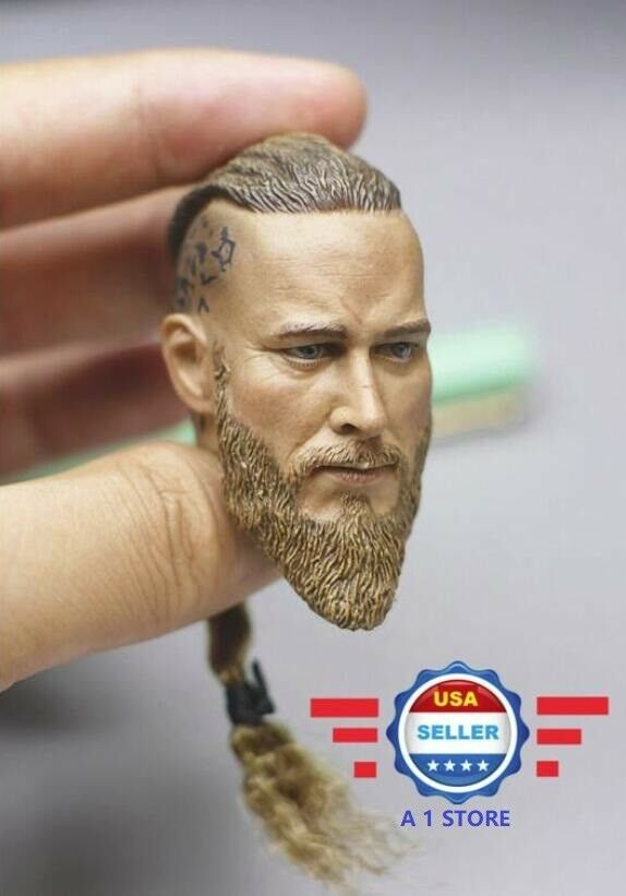 1 6 Scale Viking Captain Head Sculpt for 12'' Male Figure Doll