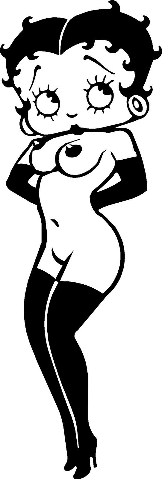 Betty boops big tits, vinyl cut decal