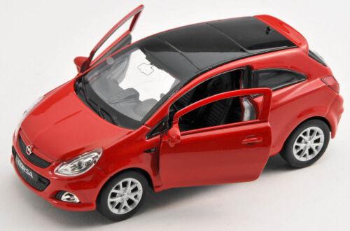 BLITZ VERSAND Opel Corsa OPC rot red Welly Modell Auto 1:34 NEU /& OVP