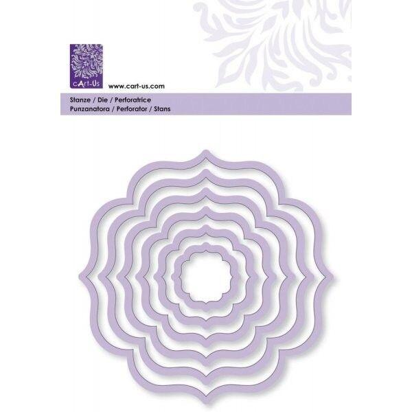 Prägeschablone ~ Stanzschablone ~ cArt-Us Blumenwelle für Big Shot Cuttlebug