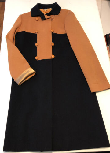 Vintage 60's Paul Simon Trench Coat Fully Lined Ma