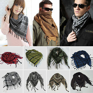 Men-Women-Shemagh-KeffIyeh-Arab-Shawl-Scarf-Neck-Wrap-Scarves-Stole-Tassel-Gifts