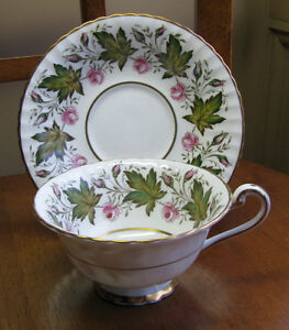 PARAGON-Princess-Elizabeth-Pink-Rose-Bone-China-England-Tea-Cup-amp-Saucer-Set