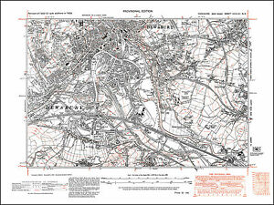 Dewsbury south Thornhill north old map Yorkshire 1938 247NE repro