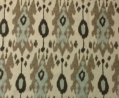 "BALLARD DESIGNS BELGRANO IKAT SPA DESIGNER MULTIUSE FABRIC 1.25 YARDS 55""W"