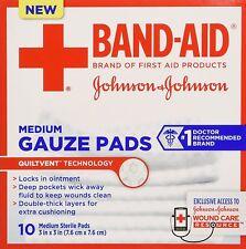Bandaid First Aid Gauze Pads 3X3 10 ct