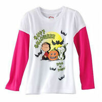 ☀snoopy☀ Girls Long Sleeve T-shirt Halloween Peanuts Size 5 Or 6