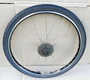"Shimano FH-C201 Rear Wheel 9 Speed 26"" Rigida Aries Mountain Bike / Schwalbe Tyr"