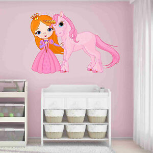 Image Is Loading Princess And Unicorn Wall Decal Wall Sticker Home