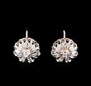 14KT-White-Gold-1-10-ctw-Diamond-Earrings-Lot-481