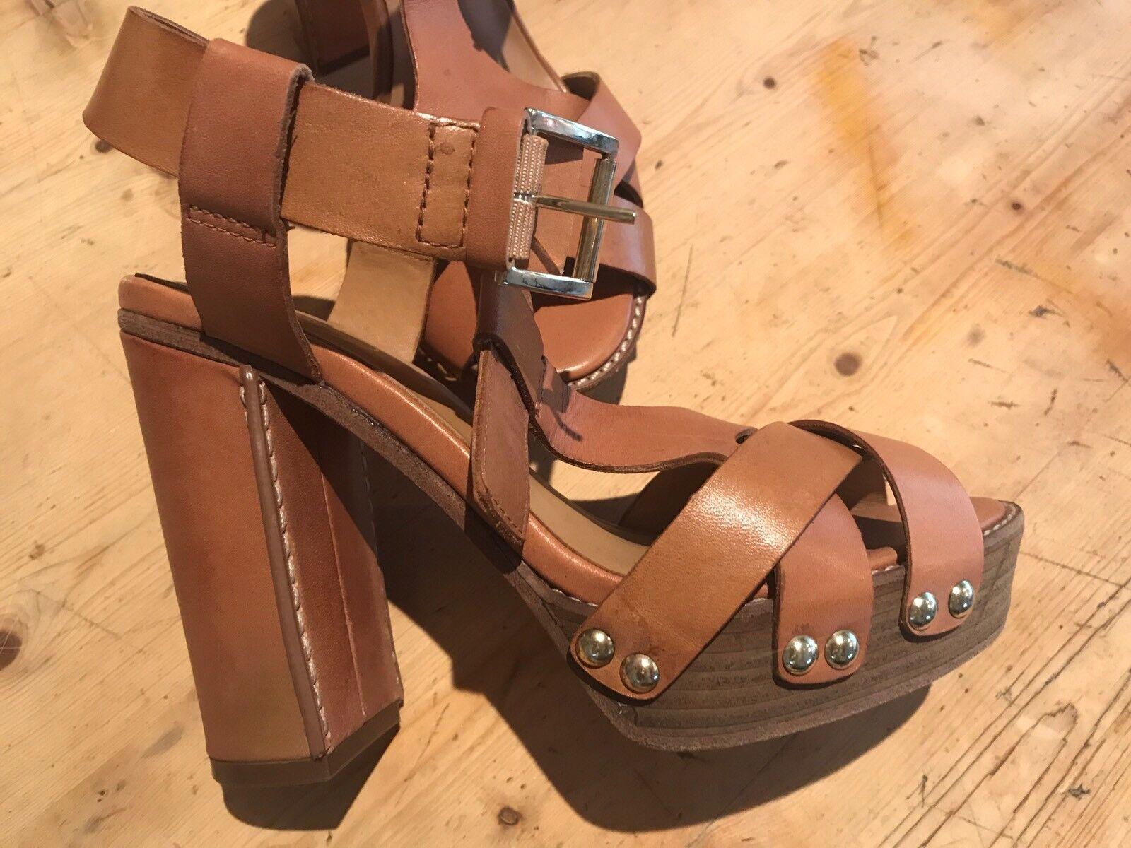 ASH Leder Schuhes Größe 36 Eu Braun Brand Brand Brand New 8fee0d