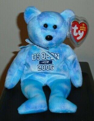 MWMT Tennis Bear US Version Ty Beanie Baby Deuce US open 2006