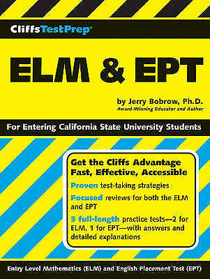CliffsTestPrep ELM and EPT by Jerry Bobrow (Paperback, 2006)