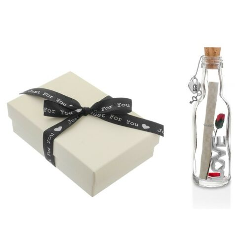 2nd Wedding Anniversary Gift Personalised Message in a Bottle 2 years Married