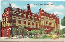 Hotel De Soto in Savannah GA Postcard