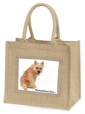 Cairn Terrier Hund mit Love Große natürliche jute-einkaufstasche Weihnachten,