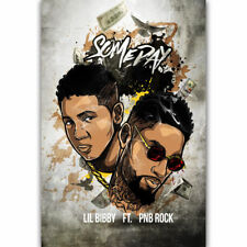 0518D Hot New Light Up Drake Feat Jay Z Rap Music-Print Art Silk Poster
